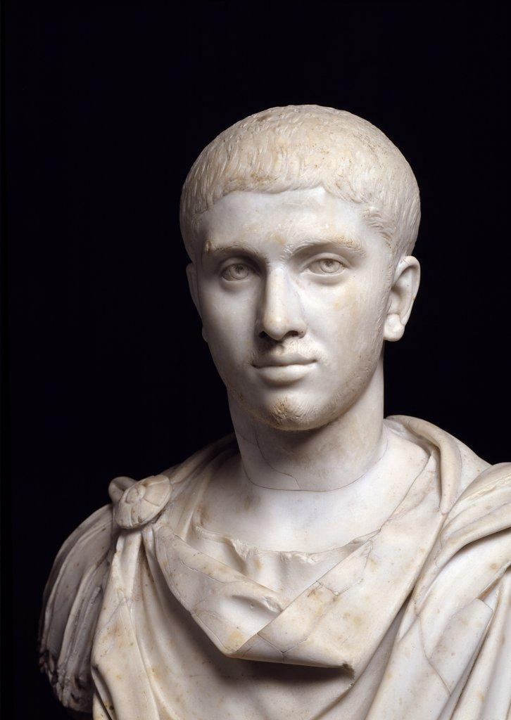 Emperor Alexander Severus (Imperator Caesar Marcus Aurelius Severus Alexander). Marble, 208-235 AD. Museo Pio Clementino, Musei Vaticani, Italy.  : Stock Photo