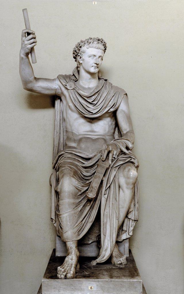Stock Photo: 1899-42651 Roman Art: Emperor Tiberius  (Tiberius Claudius Nero). Marble. Museo Pio Clementino, Musei Vaticani, Italy.