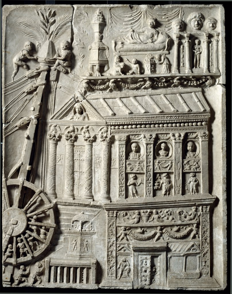 Roman Art: Bas-relief from the Tomb of the Haterii. 1st century AD. Museo Pio Clementino, Musei Vaticani, Italy.  : Stock Photo