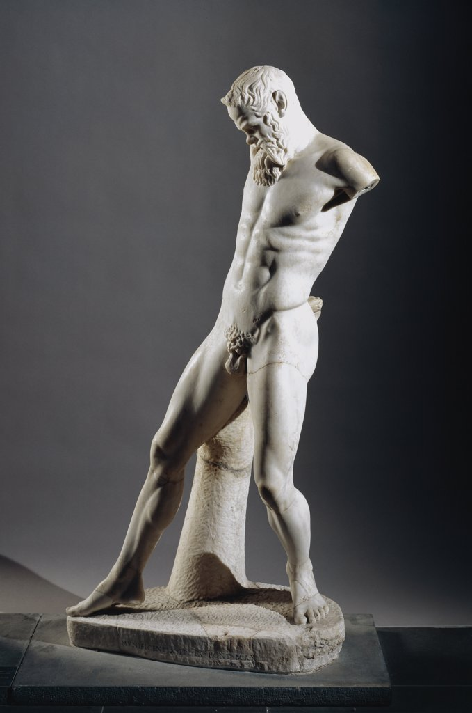 Marsyas. Roman copy after an original from 450 BC by Myron. Marble, H159 cm. Musei Vaticani, Museo Gregoriano Profano, Italy.  : Stock Photo