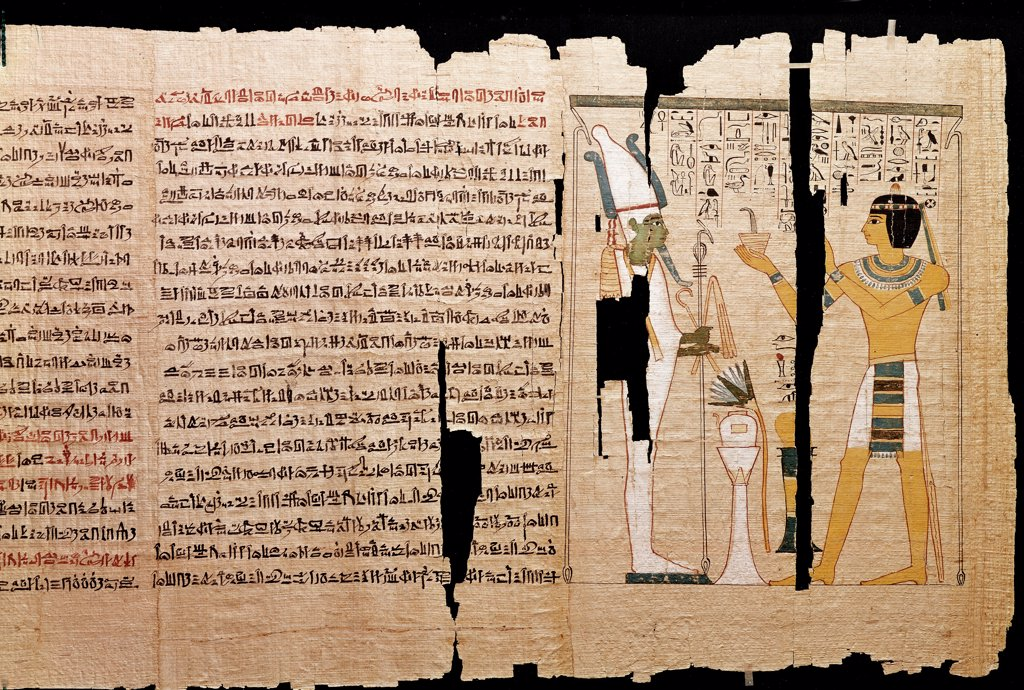Egyptian Antiquities: Recording the Trial of Tomb-Robbers. Papyrus, c.1175 BC. British Musem, London, UK.  : Stock Photo