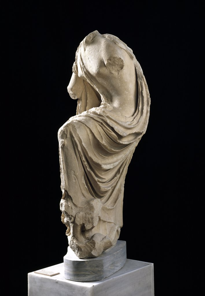Stock Photo: 1899-42909 Greek Art: The Goddess Hygeia. Marble statue from the Temple of Asklepios at Epidaurus. C.370 BC. National Archaeological Museum, Athens, Greece.