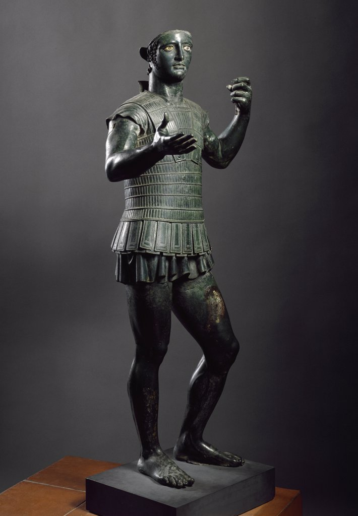 Etruscan Art: Mars of Todi. Bronze, H141 cm, 5th century BC. Museo Gregoriano Etrusco, Musei Vaticani, Italy.  : Stock Photo