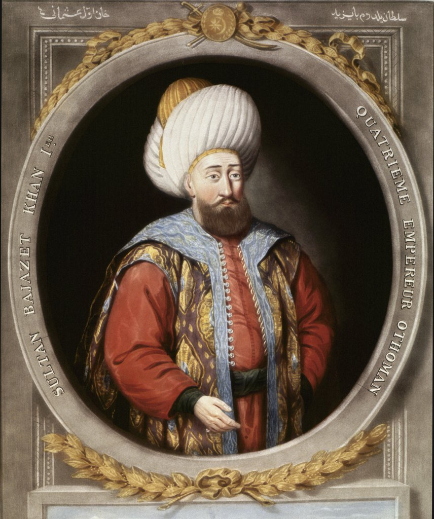Stock Photo: 1899-43113 Portrait of Bayezid I (1389-1402), 4th Sultan of the Ottoman Empire. Topkapi Sarayi Museum Library, Istanbul, Turkey.