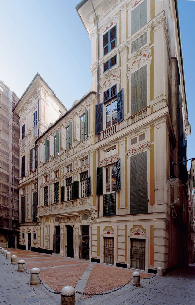 National Gallery of Palazzo Spinola, by Unknown artist, Unknow, . Italy: Liguria: Genoa: Palazzo Spinola National Gallery. View street Palazzo Spinola facade Genoa National Gallery : Stock Photo