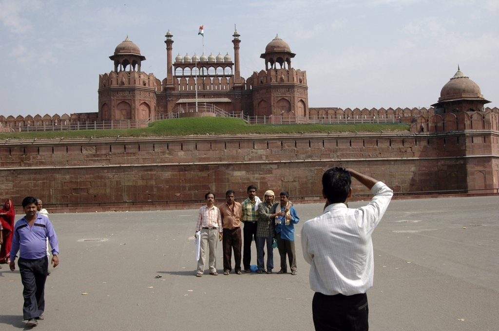 Stock Photo: 1899-50410 India, Delhi. Red Fort