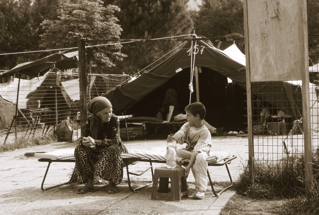 Stock Photo: 1899-50485 Albania, Tirana. Refugee Camp.