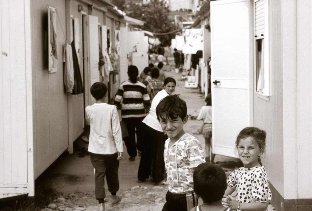Stock Photo: 1899-50486 Albania, Tirana. Refugee Camp.