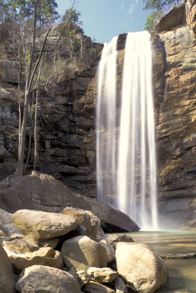 Stock Photo: 1899-50728 Georgia, Toccoa - Toccoa Falls: Scenic View Of Waterfall