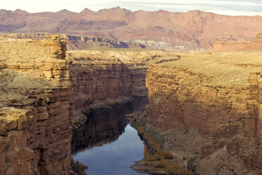 Arizona. Colorado River From Navajo Bridge : Stock Photo