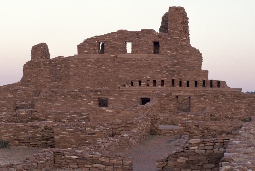 New Mexico, Salinas Pueblo Missions. Abo Ruins. Colonial Spanish And Indian, Mid 1600'S : Stock Photo
