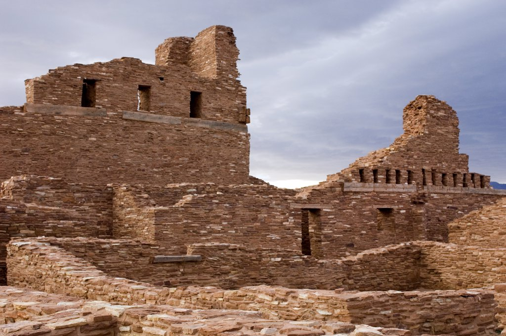 Stock Photo: 1899-50861 New Mexico, Salinas Pueblo Missions National Monument. Abo Ruins. Ruins Of The San Gregorio De Abo Spanish Mission Church.