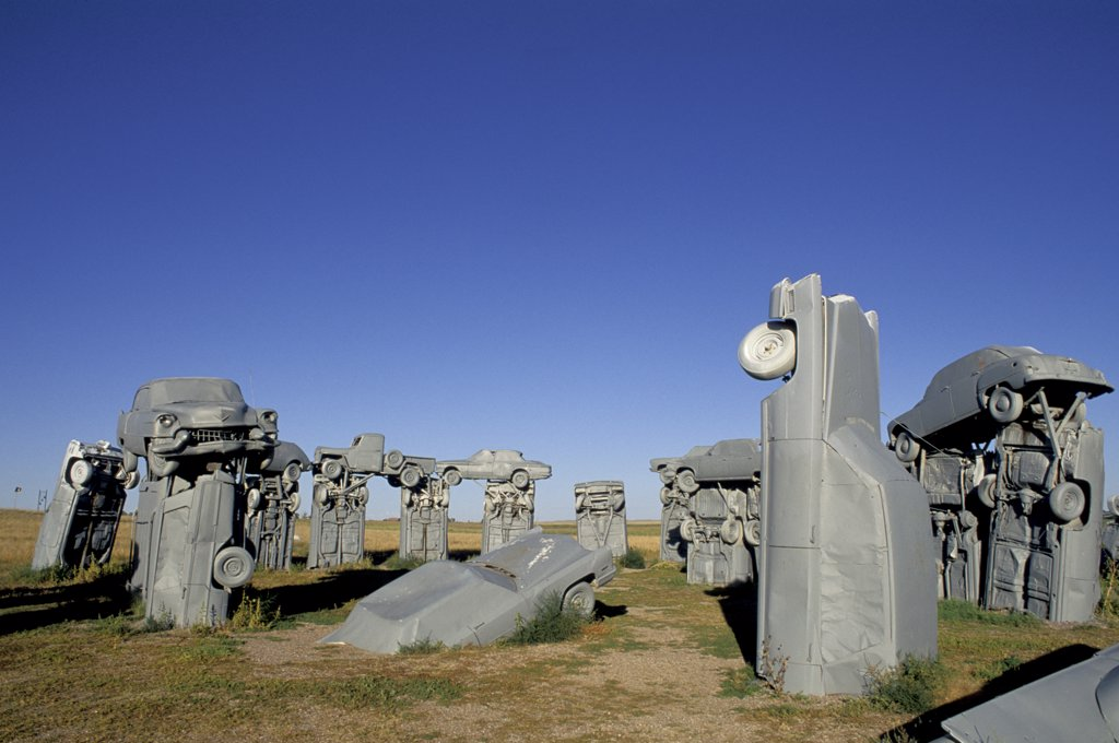 Nebraska. Alliance. Carhenge. Close-Up. Designed In 1987 By Reinders Family. : Stock Photo