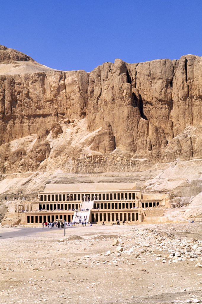 Egypt, Valley Of The Kings, Funeral Temple Of Queen Hatshepsut. : Stock Photo