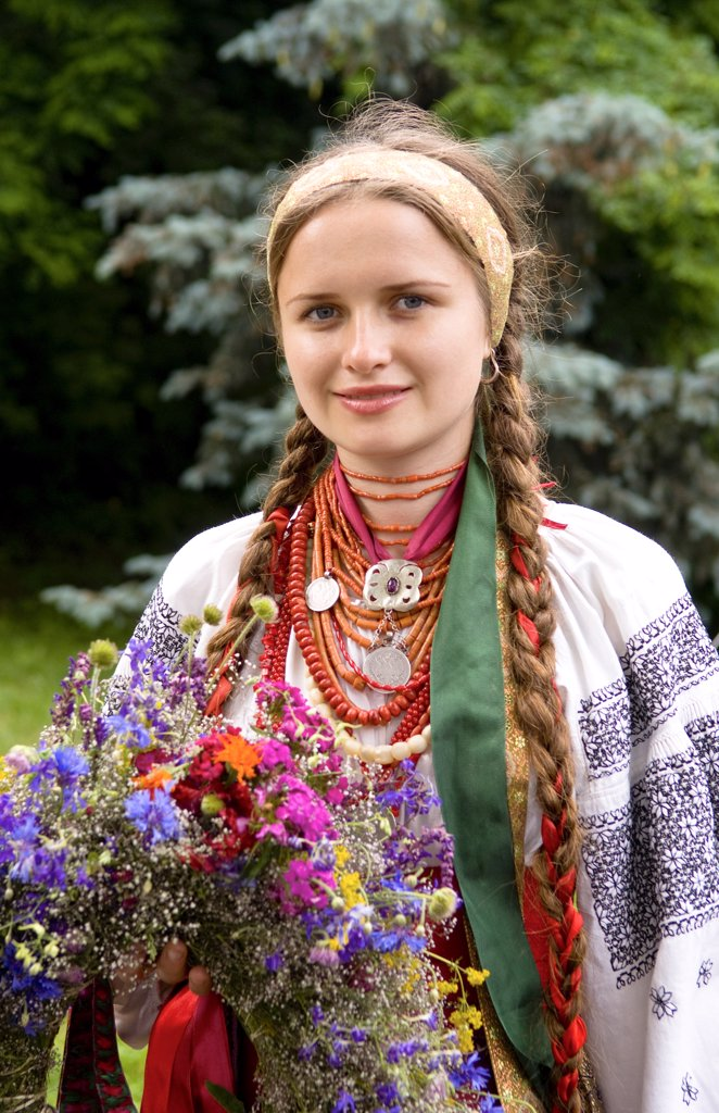 Stock Photo: 1899-52564 Woman In Traditional Dress In Kiev, Ukraine.
