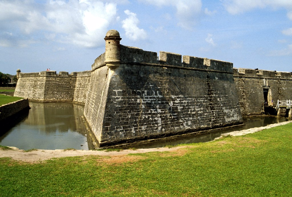 Florida, Saint Augustine. Fort San Marcos. : Stock Photo