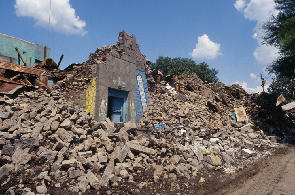 India, Maharashtra, Latur. Destruction From 1993 Earthquake : Stock Photo