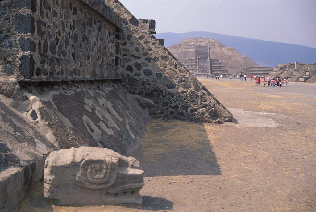 Stock Photo: 1899-57142 Mexico, Teotihuacan. Street Of The Dead