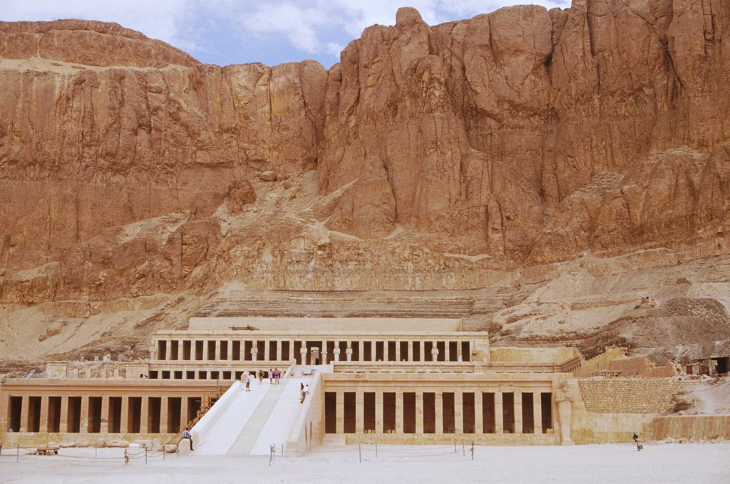 Stock Photo: 1899-57247 Egypt. Valley Of Kings. Queen Hatshepsut Temple.