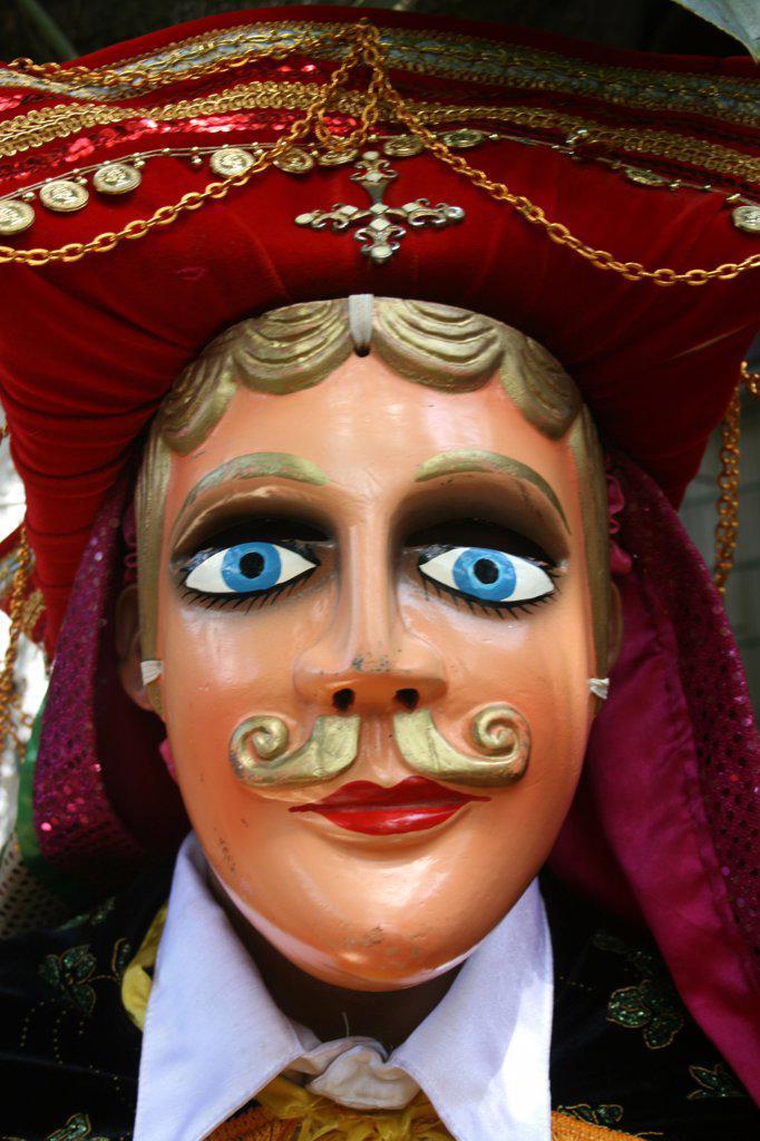 Nicaragua, Masked Dancer Of Ballet Folklorico In Diriamba : Stock Photo