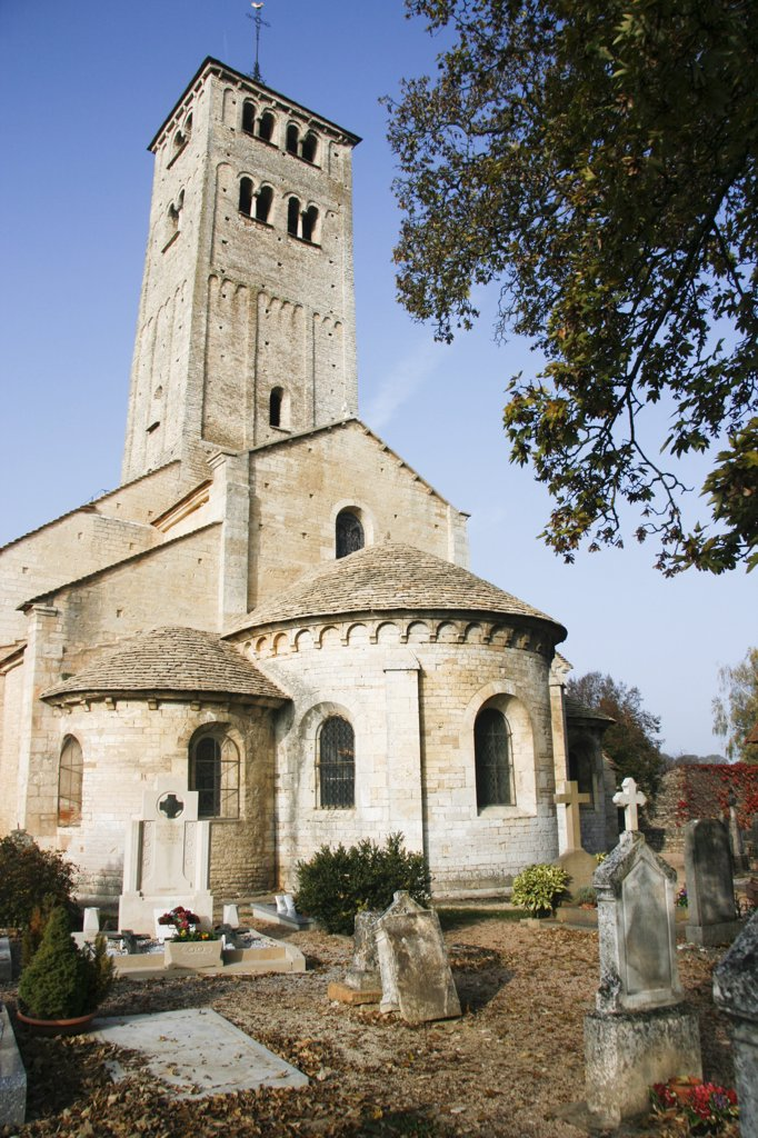 France, Chapaize, Romanesque Church Of St. Martin : Stock Photo