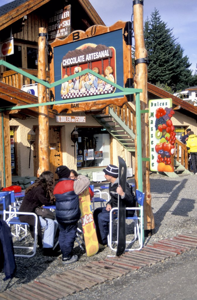 Stock Photo: 1899-58460 Argentina. Bariloche. Ski Area. Cafe.