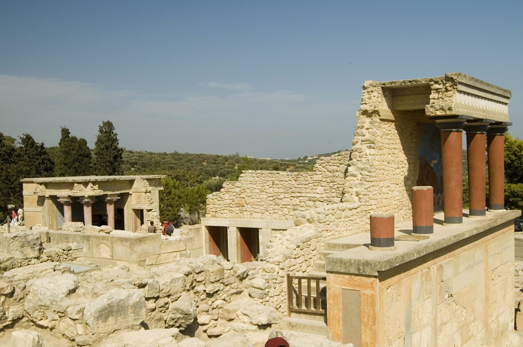 Greece, Crete, Palace Of Knossos : Stock Photo