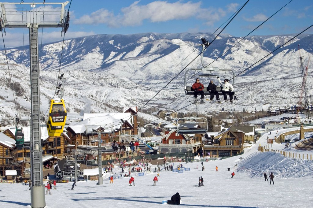Stock Photo: 1899-58821 Colorado, Snowmass. Ski Resort