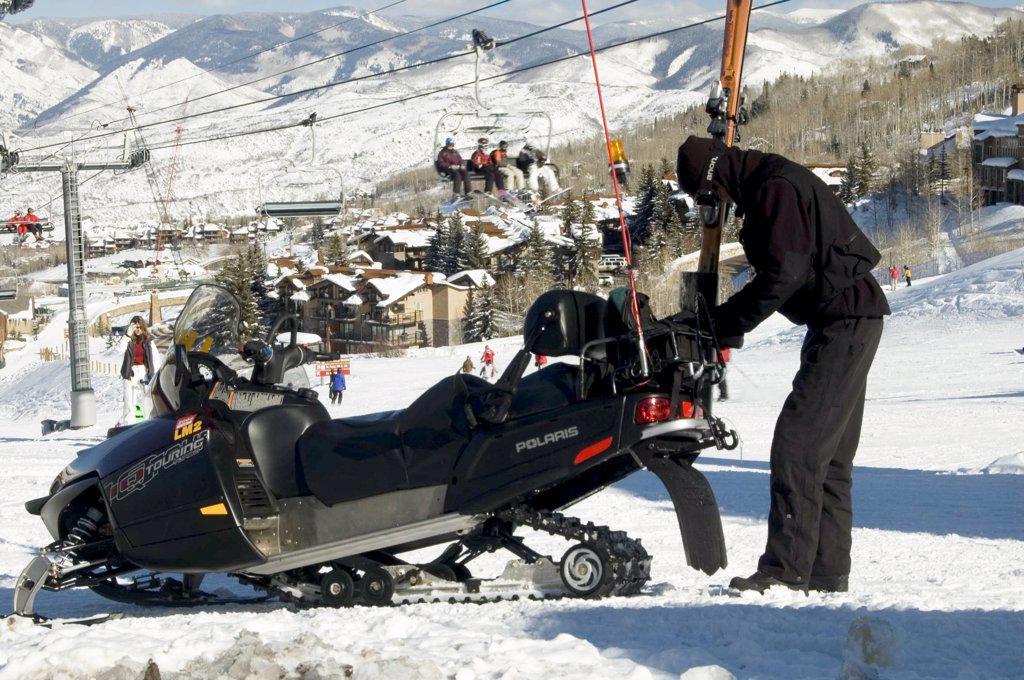Stock Photo: 1899-58826 Colorado, Snowmass. Ski Resort