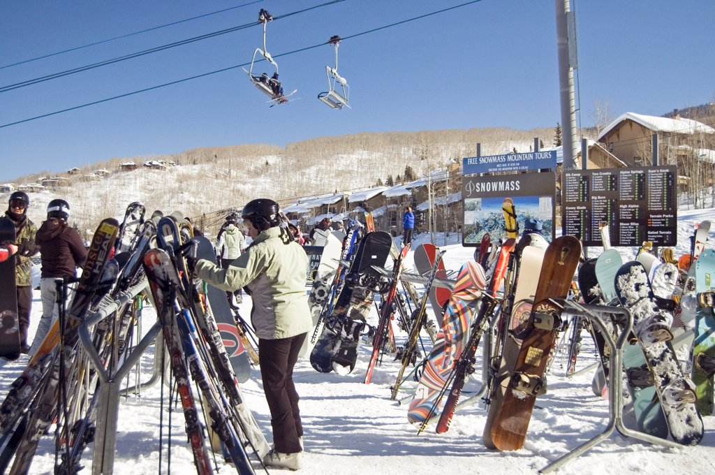 Stock Photo: 1899-58828 Colorado, Snowmass. Ski Resort