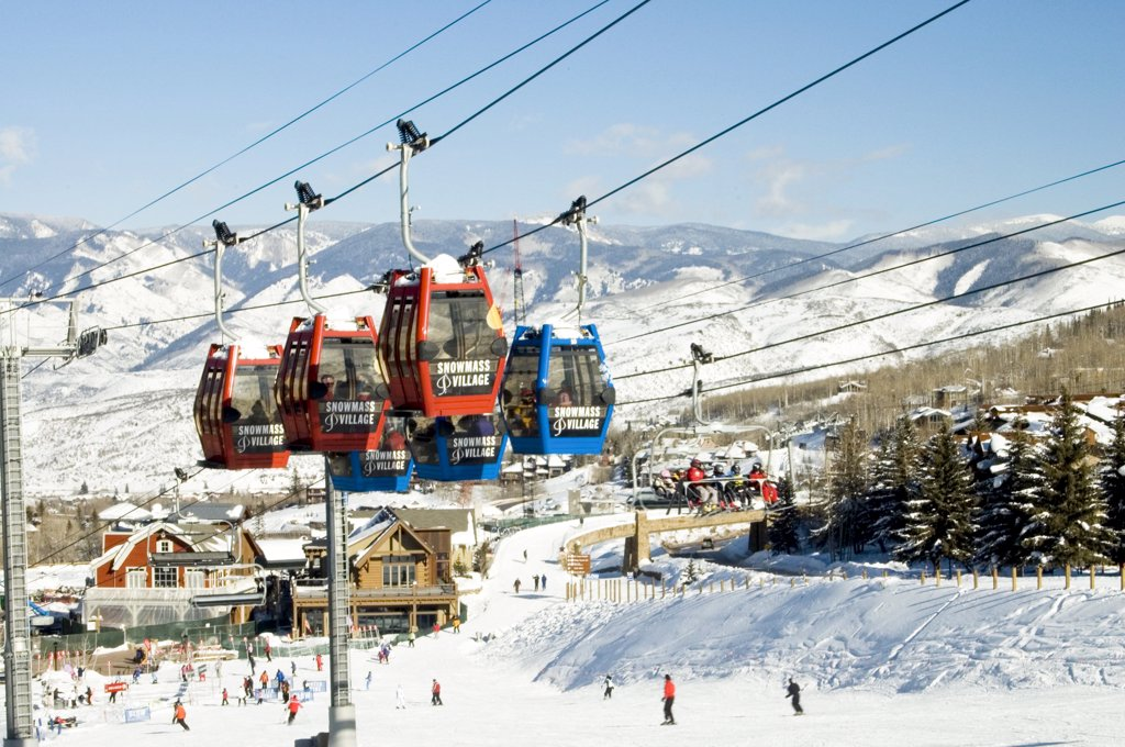 Stock Photo: 1899-58831 Colorado, Snowmass. Ski Resort