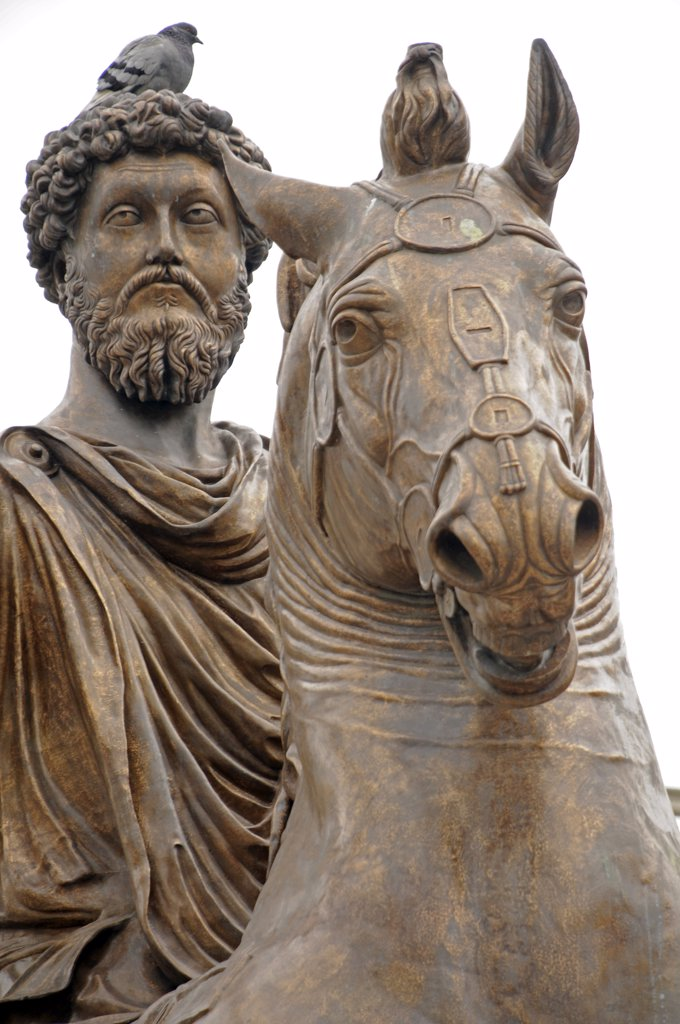 Stock Photo: 1899-58857 Statue, Marcus Aurelius, Rome, Italy