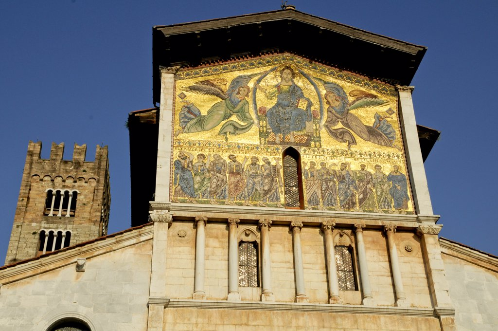 Stock Photo: 1899-58907 Church Mosaic, Lucca, Italy