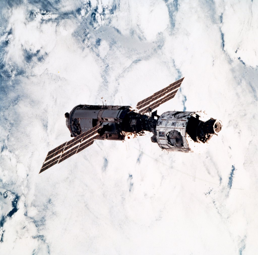 Stock Photo: 1899-61040 International Space Station With Connected Zarya And Unity Modules.