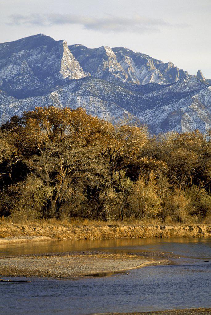 Stock Photo: 1899-61367 New Mexico. Albuquerque. Rio Grande River