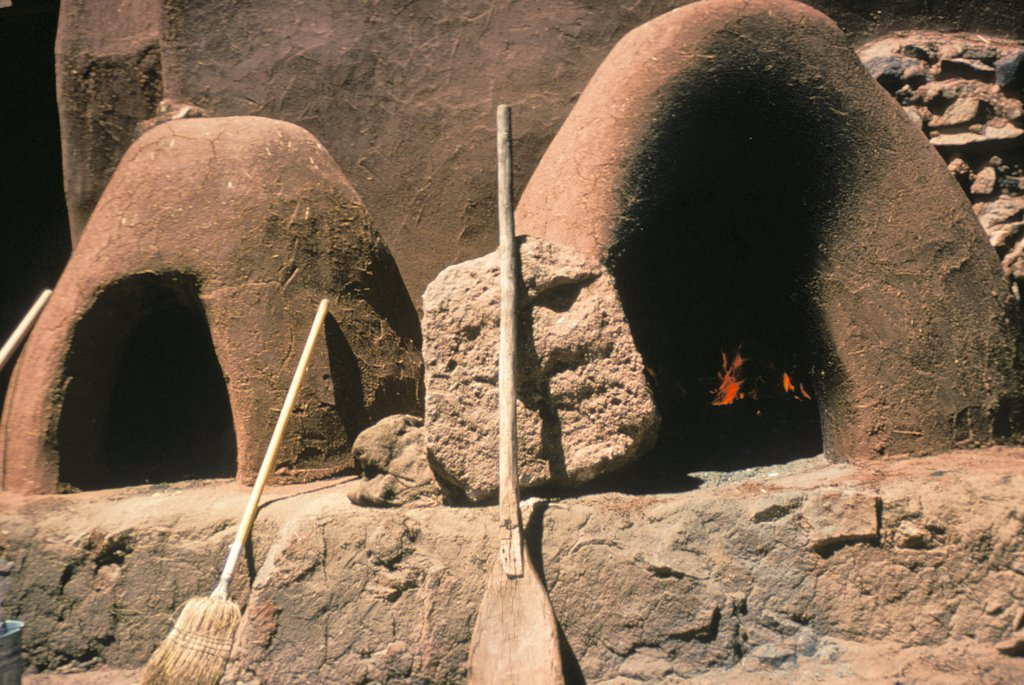 "Stock Photo: 1899-61682 New Mexico, Santa Fe. El Rancho, Los Golondrinas. """"Hornos"""" Oven For Baking"