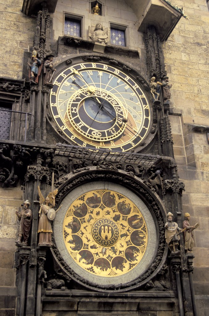 Stock Photo: 1899-62115 Czech Repulic. Prague. Old Town Square. 15Th Century Astronomical Clock
