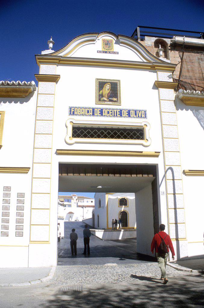 Spain, Baena. Entrance To The Nunez De Prado Olive Oil Mill : Stock Photo