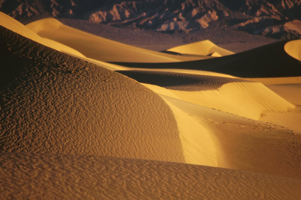 Stock Photo: 1899-64190 California, Death Valley, Sand Dunes, Desertscape