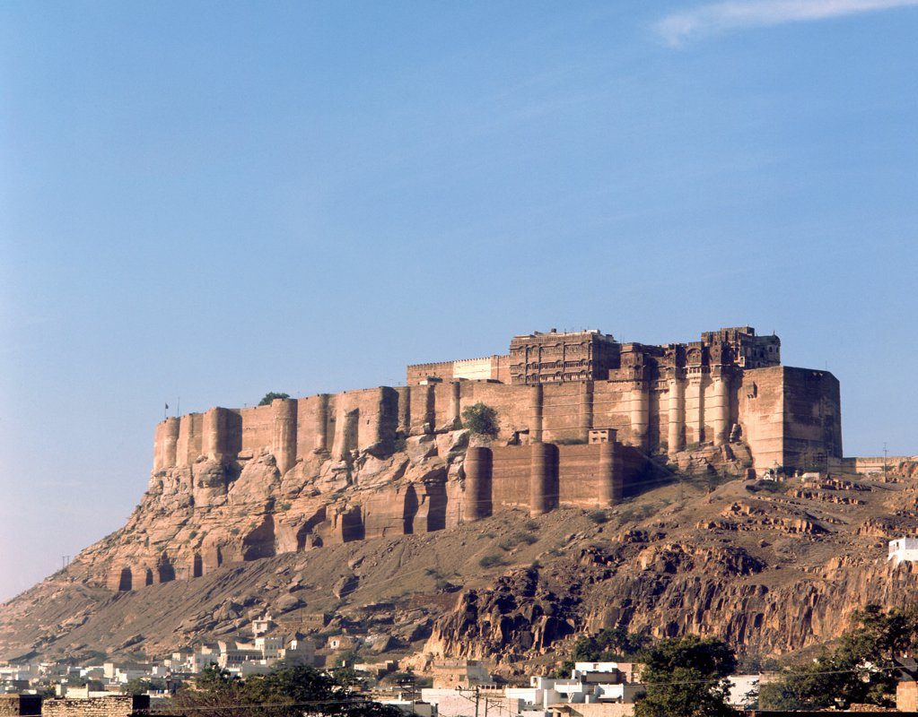 The city of Jodhpur, Rajasthan founded in 1459 by Rao Jodha, a Rajput chief, India. Rajasthani. Dates from 15th circa Rajasthan. : Stock Photo