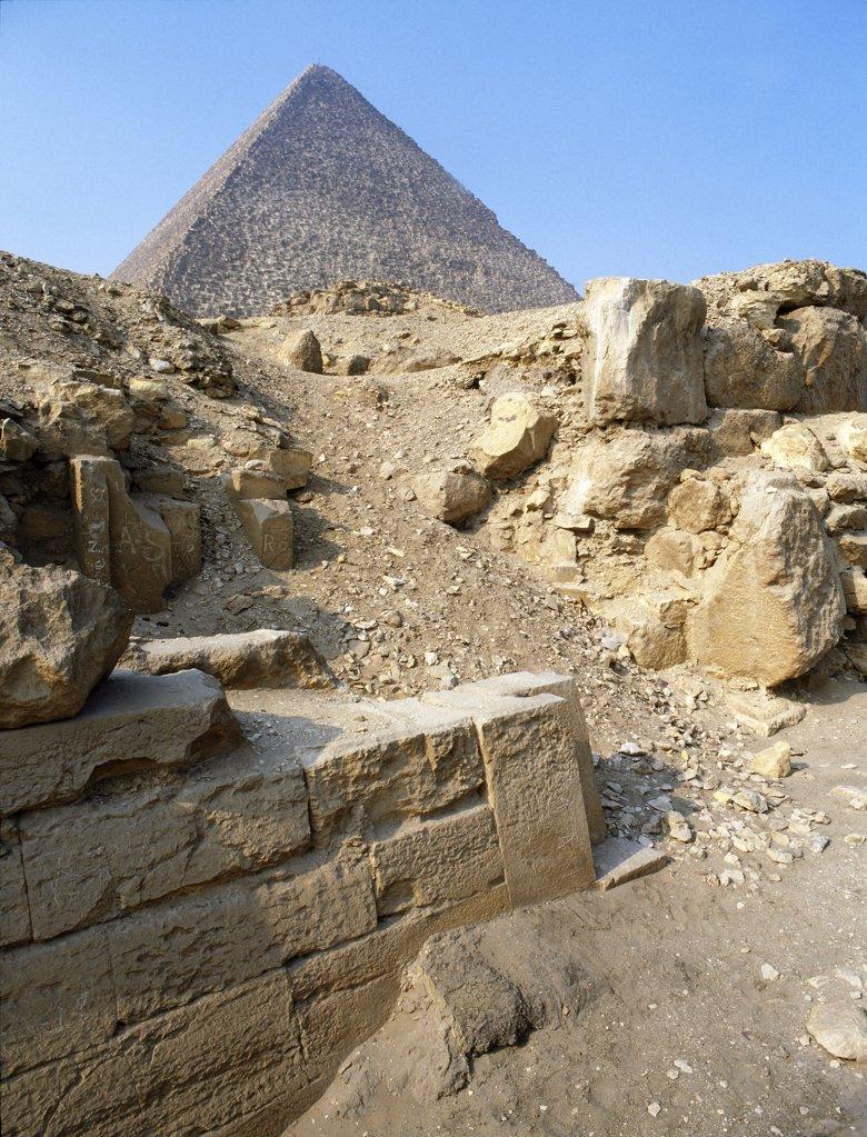 Pyramid at Giza, Egypt. Ancient Egyptian. Old Kingdom. Giza : Stock Photo