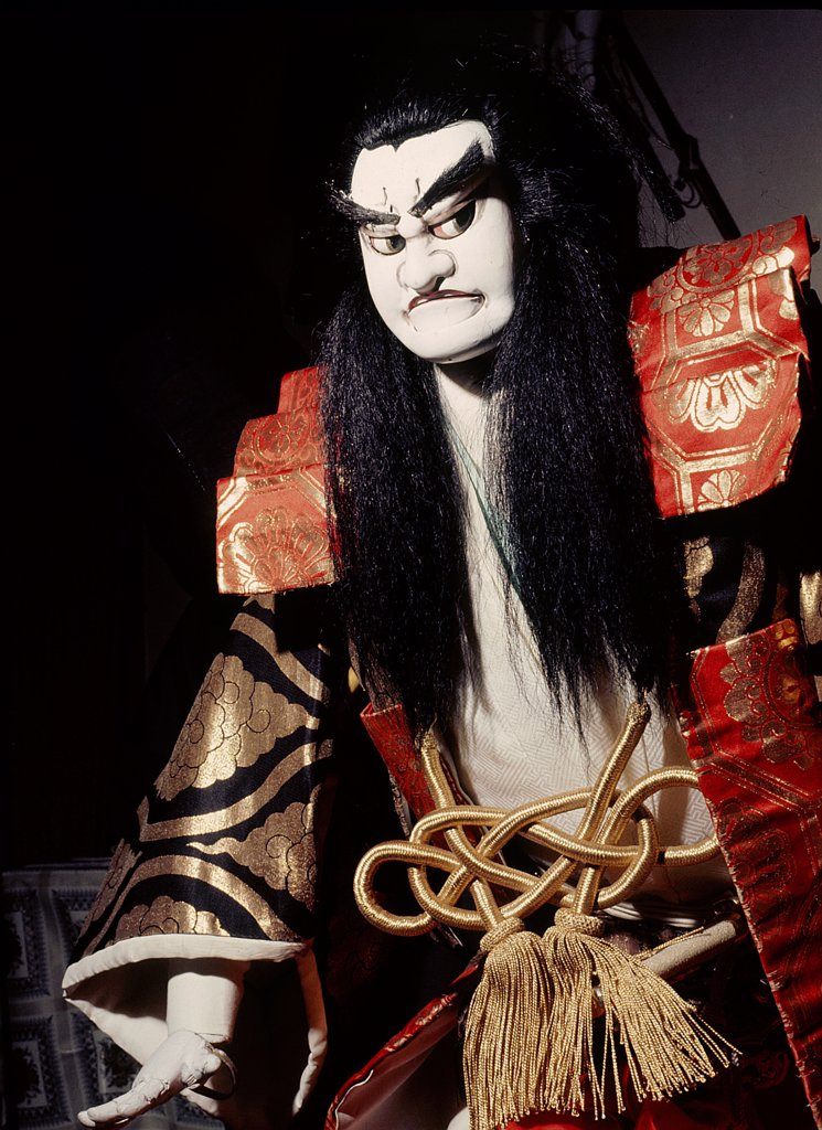 Bunraku puppet, Japan. Kyokai, Osaka. : Stock Photo