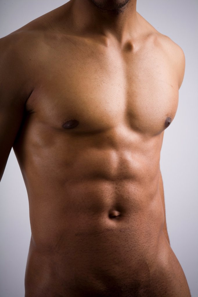 Stock Photo: 1899-66079 Naked torso of athletic man