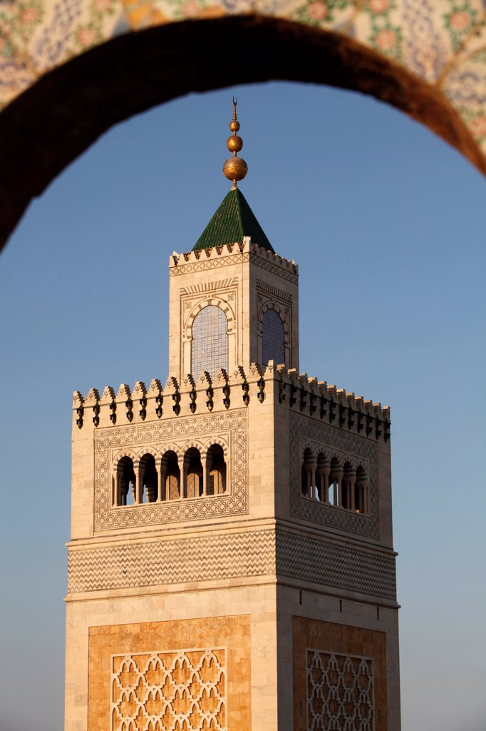 Stock Photo: 1899-69696 Tunis great mosque (called Ezzitouna Mosque) minaret