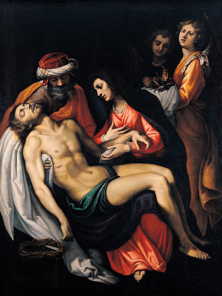 Stock Photo: 1899-74891 The Deposition, by Cardi Ludovico known as il Cigoli, 16th Century, oil on canvas, cm 206 x 156