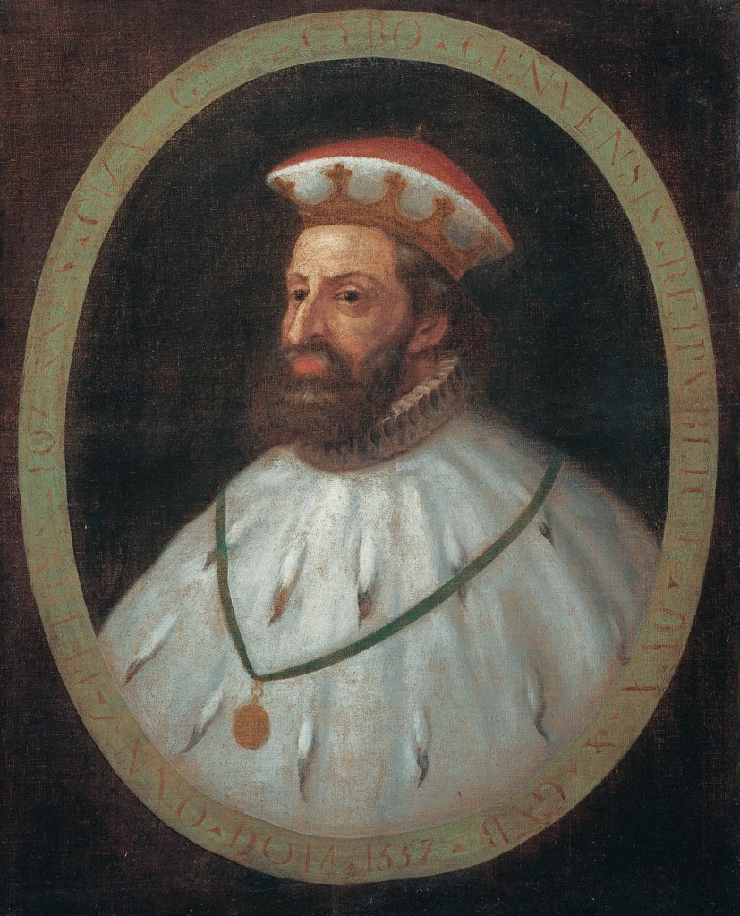Stock Photo: 1899-75580 Pietro Giovanni Cybo Chiavica (Pietro Giovanni Cybo Chiavica), by Genoese artist, 16th Century, oil on canvas, 100 x 81 cm