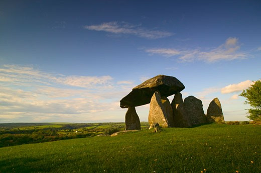 Pentre Ifan Burial Chamber Preseli hills Pembrokeshire Wales : Stock Photo