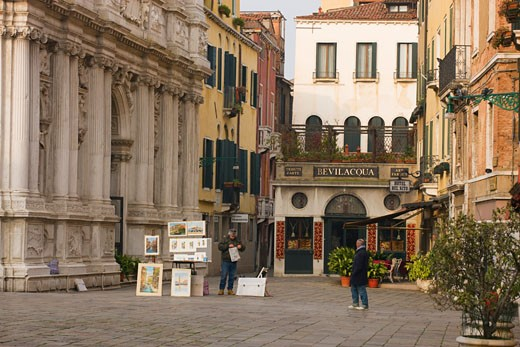 Stock Photo: 1901-1314 Campo San Maria Zobenigo San Marco District Venice Italy