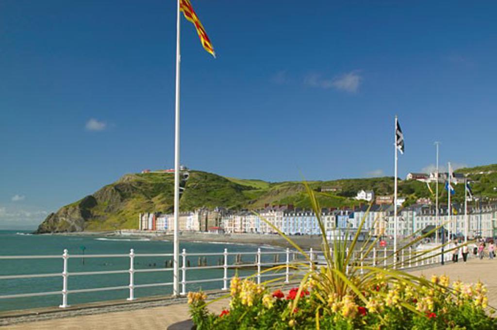 Aberystwyth Ceredigion Wales : Stock Photo