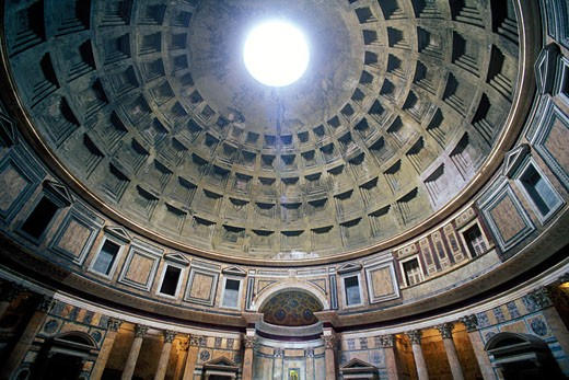 Stock Photo: 1902-1313 Italy Rome The Pantheon interior
